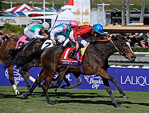Dank wins the 2013 Breeders' Cup Filly and Mare Turf.