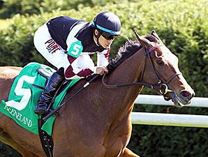 Daring Dancer wins the 2014 Appalachian Stakes.