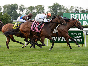 Daring Kathy wins the 2015 Perfect Sting Stakes.