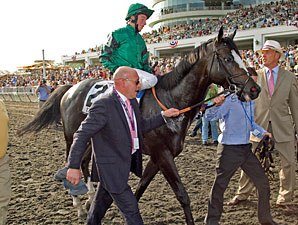 Debussy after winning the 2010 Arlington Million.
