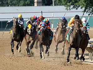Departing wins the 2013 West Virginia Derby.