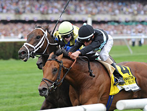 Desert Blanc Wins Manhattan Stretch Duel