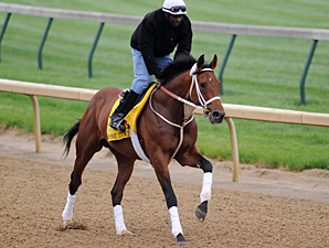 Done Talking works at Churchill Downs 5/1/2012