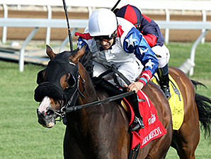 Dramedy wins the 2015 Dixiana Elkhorn Stakes.