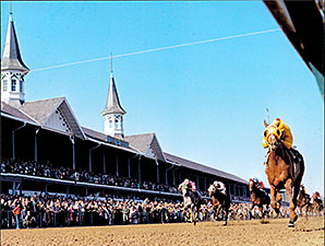 Dust Commander wins the 1970 Kentucky Derby.