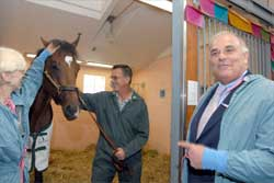 Barbaro's Latest Visitor Comes Bearing a Large Gift