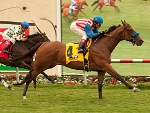 Eden's Moon wins the San Clemente Stakes.
