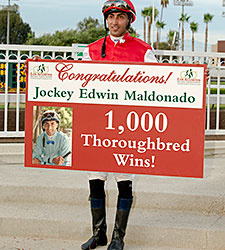 Maldonado Wins No. 1,000 at Los Alamitos