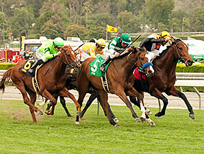 Enterprising wins the 2014 Pasadena Stakes.