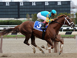 Eskendereya wins the 2010 Wood Memorial.