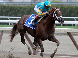 Eskendereya Romps in Wood Memorial