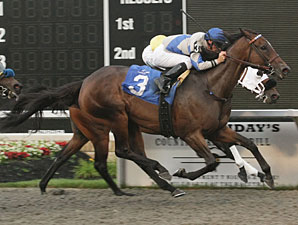 Exotic Bloom wins the 2009 Windward Stakes.