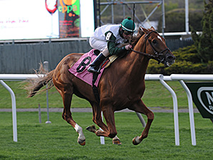 Five Iron wins the Fort Marcy Stakes.