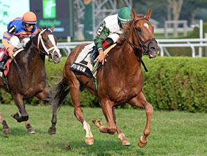 Five Iron wins the Saranac Stakes.