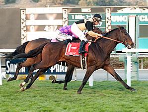 Flamboyant wins the 2015 San Gabriel Stakes.