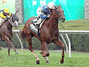 Free as a Bird wins the 2014 Buffalo Trace Franklin County Stakes.