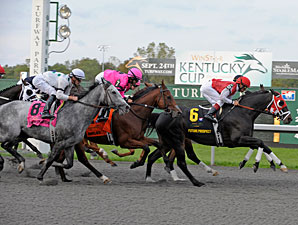 Future Prospect wins the 2011 WinStar Kentucky Cup (1st time by).