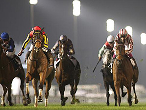 Gentildonna wins the Dubai Sheema Classic March 29.
