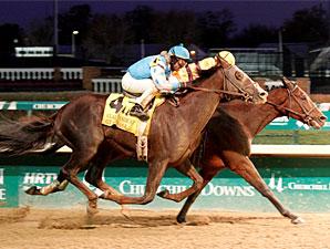 Giant Oak wins the 2010 Clark Handicap via disqualification.