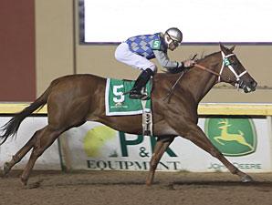 Gleaming wins the 2011 OK Classic Distaff Sprint.