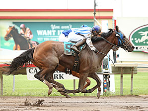 Gold Medal Dancer wins the 2014 Minnesota H. B. P. A. Distaff Stakes.