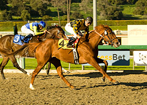 Golden Doc A comes from off the pace to take Las Virgenes.