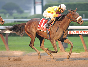 Grace Hall Begins Oaks Quest in Davona Dale