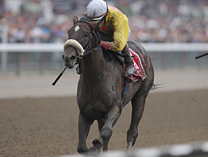 Grace Hall wins the Spinaway Stakes.