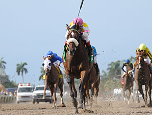 Grace Hall Gallops Away in Gulfstream Oaks