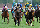 Great Attack Surges in Twin Spires Turf Test