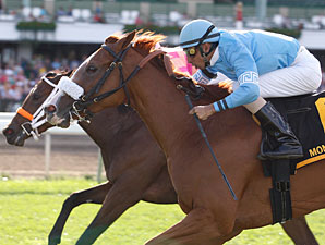 Grecian Maiden wins the 2010 Twin Lights Stakes.