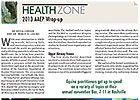 Health Zone: 2013 AAEP Wrap-Up