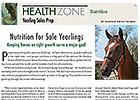 Health Zone: Nutrition & Yearling Sales Prep