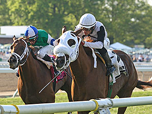 Hard Enough wins the 2014 Red Bank Stakes.
