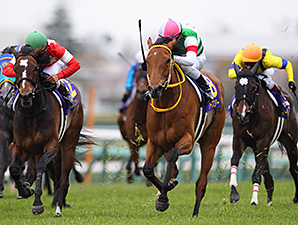 Harp Star Sweeps From Last to Win Oka Sho
