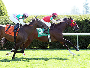 His Race to Win wins an allowance at Keeneland on April 16, 2014.