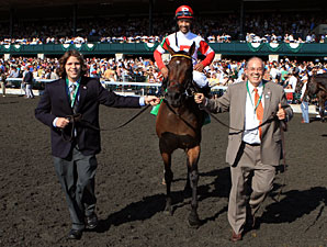 Holiday for Kitten wins the 2011 Thoroughbred Club of America.