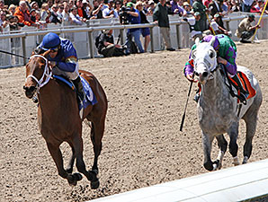 Hopeful Notion wins the 2014 Dixie Poker Ace Stakes.