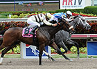 In Tune in Rhythm in Gulfstream Oaks Win