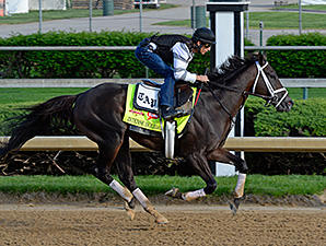 Intense Holiday jogs at Churchill Downs April 27.