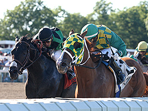 Irish You Well wins the 2014 Long Branch Stakes.