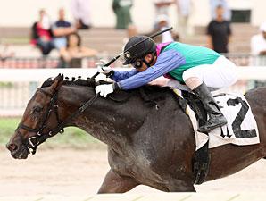 Itsmyluckyday wins the 2012 Fasig Tipton Durf Dash.