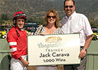 Trainer Jack Carava Gets Win No. 1,000