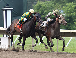 Jay Eye See wins an AOC at Monmouth on July 13, 2013.