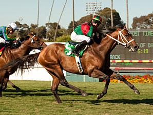 Jeranimo wins the 2012 Shoemaker Mile.