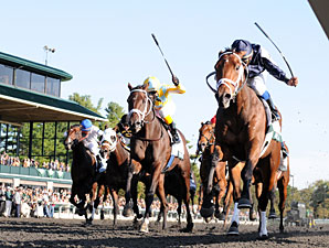 Joha Holds Off Rivals in Breeders' Futurity