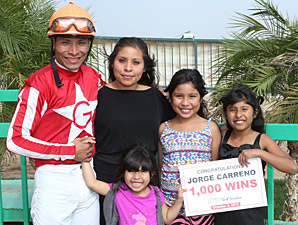 1,000 Wins for Jockey Jorge Carreno