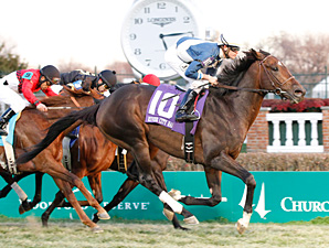 Keep Up wins the River City Stakes.