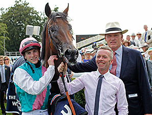 Kingman wins the QUIPCO Sussex Stakes at Goodwood July 30, 2014.