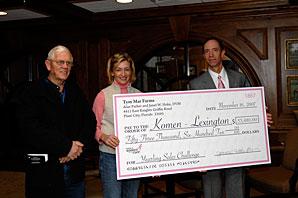 Hoke Donates $53,600 to Komen-Lex